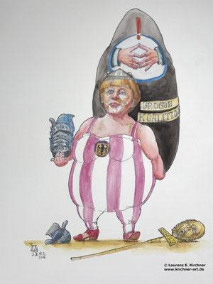 Angela Merkel als Kanzlerin wiedergewählt