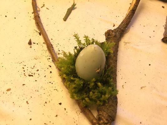 Details des Plakates - das gefundene Ei