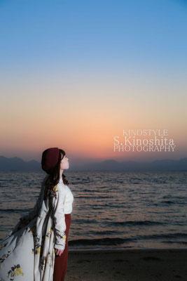 出張撮影 作品撮り 夕焼け ポートレート 広島