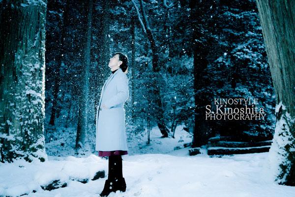 出張撮影 作品撮り 雪 ポートレート 広島