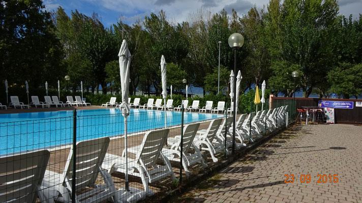 der Pool - schön groß!