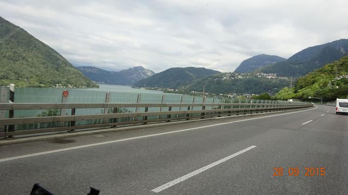 auf dem Weg zum Gotthard-Tunnel
