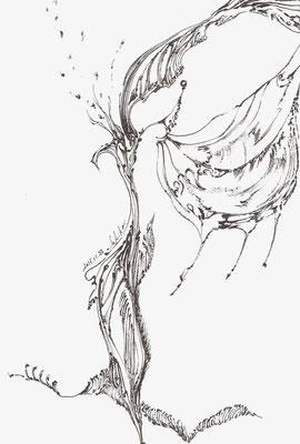 「春ヲ望む。」ボールペン0.7mm