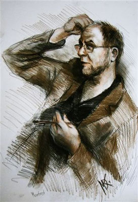 Maria Kireev's portrait of Manfred - 2004