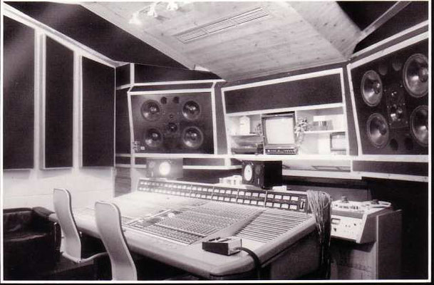 The mixing desk at The Workhouse before removal