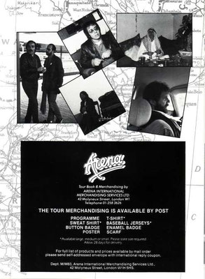MMEB Somewhere in Afrika 1983 Tour Programme Page 9
