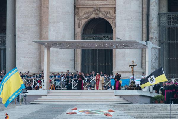 Papst Franziskus während der Vesper am 31.7.2018 (Bild von Max Frey)