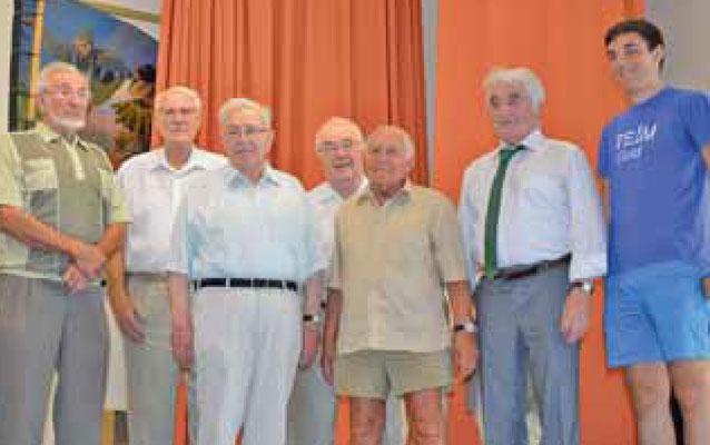Ehrung der Gründungsmitglieder zur 70 Jahrfeier der KjG Pflaumheim. Foto: C. Reichert-Rachor