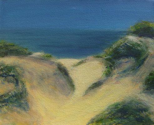 Sylter Dünen 2, Acryl auf Leinwand, 24 x 30 cm