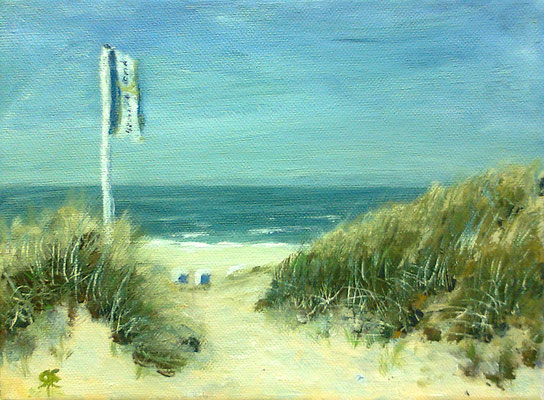 Strandblick, Acryl auf Leinwand, 18 x 24 cm