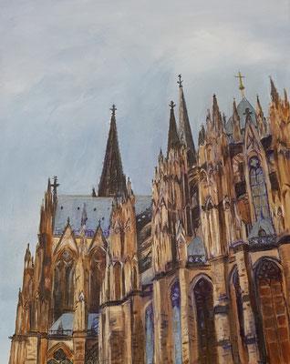 Kölner Dom, 2018, 40 x 50 cm, Mischtechnik auf Leinwand