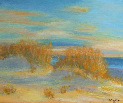 Auf dem Roten Kliff, Acryl auf Leinwand, 24 x 30 cm