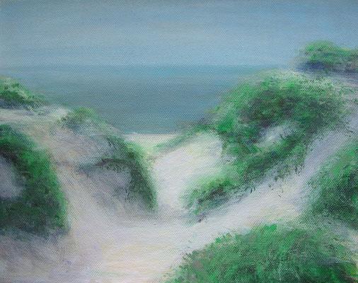 Sylter Dünen 1, Acryl auf Leinwand, 24 x 30 cm