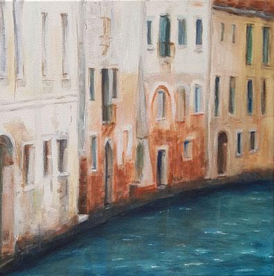 Spaziergang durch Venedig 8, Acryl auf Leinwand, 40 x 40 cm, 2016/2017