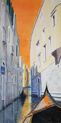 Venedig 12, Acryl auf Leinwand, 40 x 80 cm, 2019