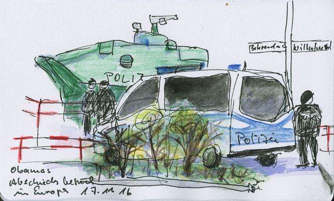 Berlin-Fahrt, Obamas Abschied, 2016