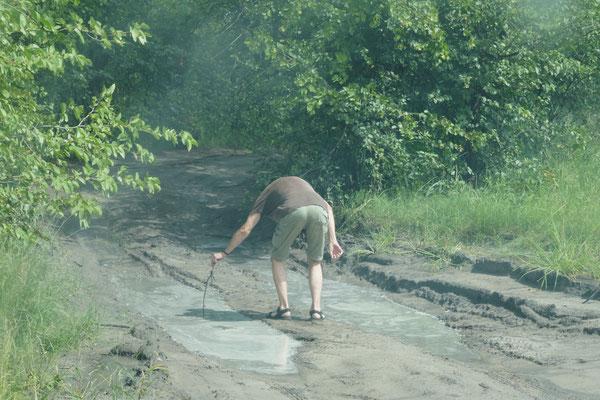 Vermessung der Wasserstandstiefe