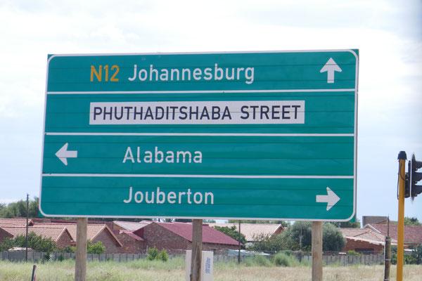 Auf dem Weg Richtung Johannesburg. Wie heißt doch gleich die Strasse?