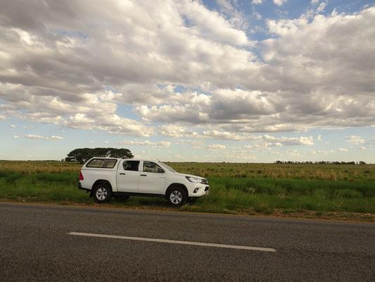 Dieses Auto fährt uns die nächsten Wochen durch Südafrika und Namibia