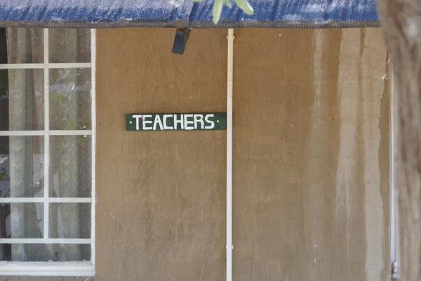Wir waren in der Unterkunft für Lehrer