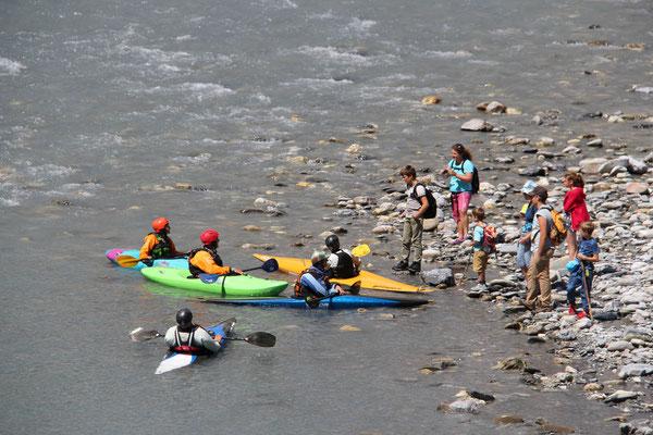 Treffen der Kanu- und Wandergruppen