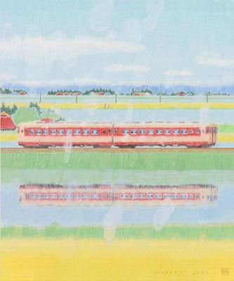 「春汽車ニ」8F 日本画