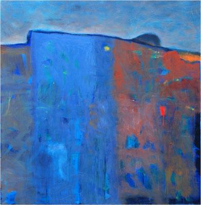 """Horizont am Hang"" Öl auf Leinwand 80 x 80 cm € 500,-"