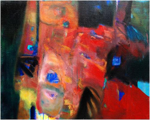 """""""Durch die Nächte"""" Öl auf Leinwand 80 x 100 cm € 700,-"""