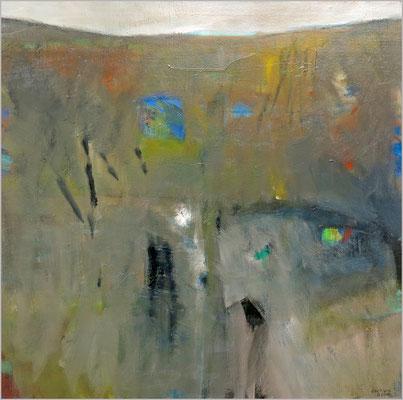 """Am Hang"" Öl auf Leinwand 80 x 80 cm € 500,-"