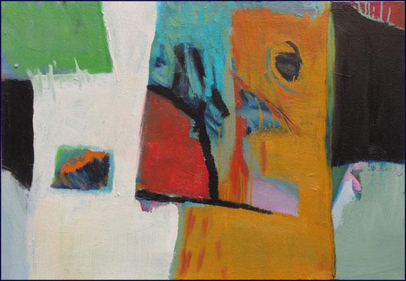 Januskopf - Öl auf Leinwand 45 x 65 cm - € 500,-