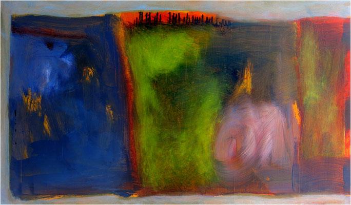 """""""Dawn"""" Öl auf Nessel 49 x 88 cm € 500,-"""
