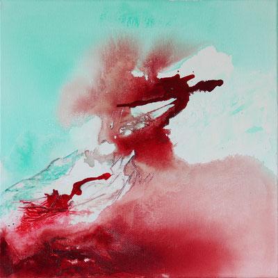 """Traum 3"" | 2017 | 50 x 50 | Papier, Airbrush"