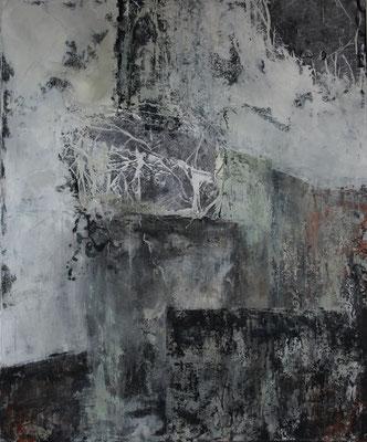 """kraftvoll""  |  2016  |  120 x 100  |  Acryl, Papier"