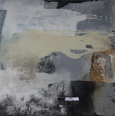 2016  |  100 x 100  |  Acryl, Sand, Champagnerkreide, Papier, Wachs