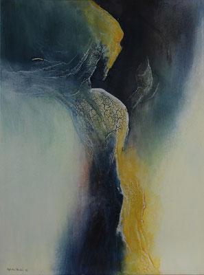 """Fluss""  |  2016  |  60 x 80  |  Acryl, Marmormehl"