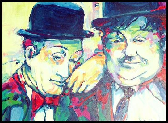 Stan und Ollie / Acryl auf Leinwand 60x80cm /     (verkauft)