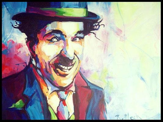 Charlie Chaplin / Acryl auf Leinwand 60x80cm /     (verkauft)