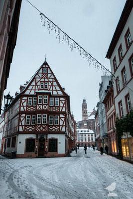 Blick zum Leichhof und Mainzer Dom