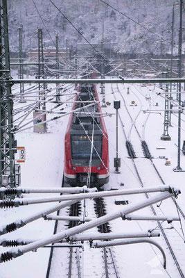 Ausfahrt der S-Bahn Richtung Frankfurt in Mainz