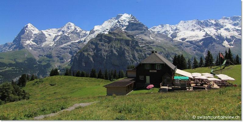 Das Bergrestaurant Pascal auf dem Allmendhubel.