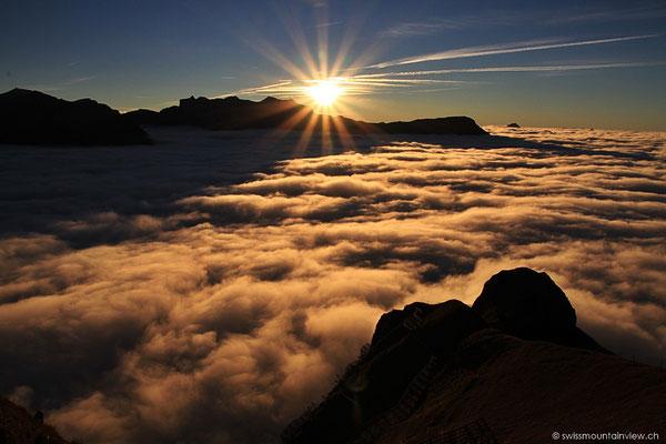 Einen der beeindruckensten Sonnenuntergänge, die ich je erlebt habe.