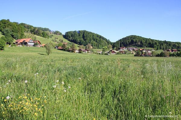 Via Burgistein Dorf fahren wir