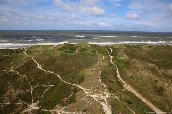 Der Blick hinunter Richtung Küste.