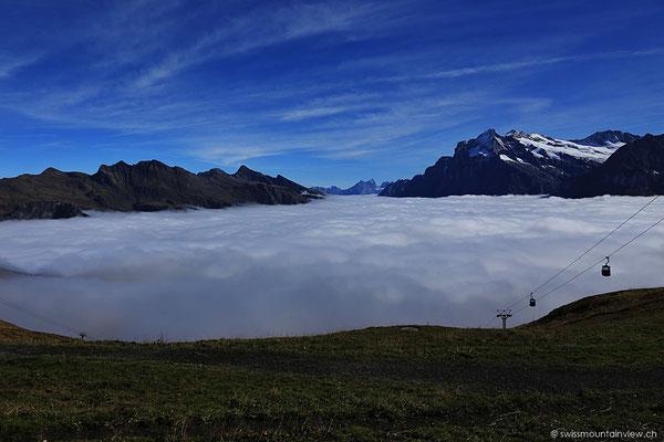 Dem Nebel entronnen - am 7.10.2013.