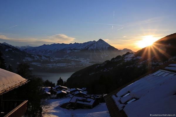 ...und pünktlich zum Sunset wieder zurück bei swissmountainview.ch