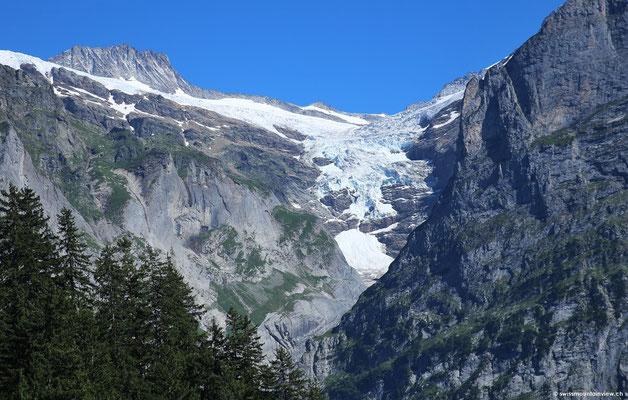 und Blick auf die Gletscher