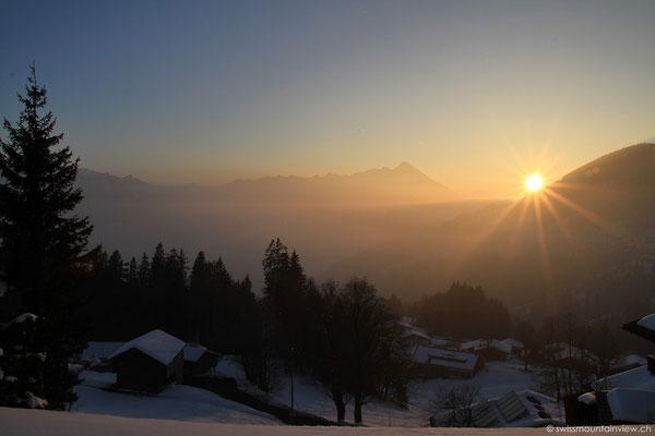 Den Sunset geniessen wir dann aber doch wieder auf der Beatenberg-Seite,