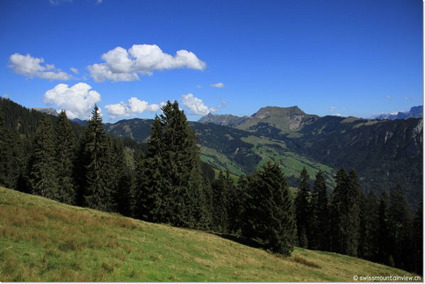 Hinter dieser Bergkette liegt der Brienzersee.