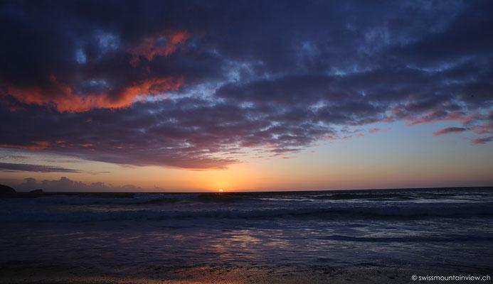 Sonnenuntergang bei Newquay