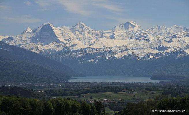 Der Thunersee am Fusse von Eiger, Mönch und Jungfrau!